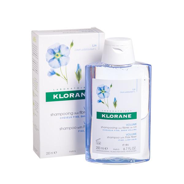 KLORANE, šampūnas ploniems plaukams su linų ekstraktu, 200 ml paveikslėlis