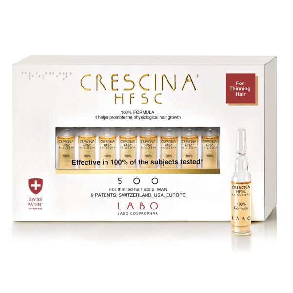 CRESCINA RE-GROWTH HFSC 500 MAN, 10 ampulių, 3,5 ml paveikslėlis