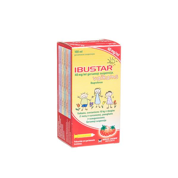 IBUSTAR, 40 mg/ml, geriamoji suspensija, vaikams, 100 ml paveikslėlis