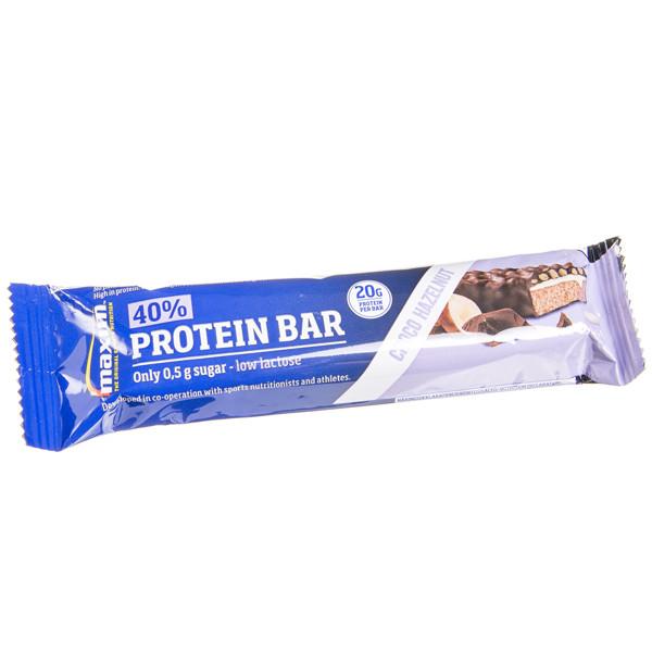 MAXIM, lazdynų riešutų ir šokolado skonio batonėlis su 40 % baltymų, 50 g paveikslėlis