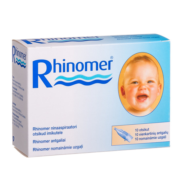 RHINOMER, antgaliai, 10 vnt. paveikslėlis