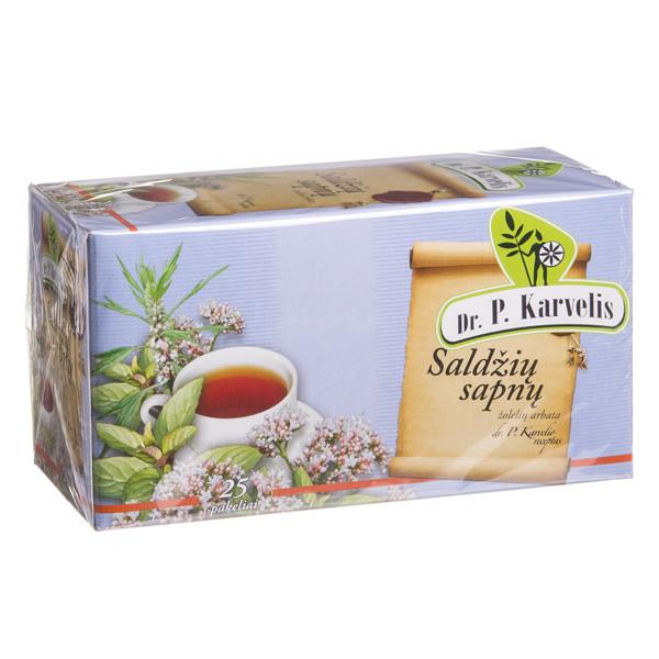 DR. P. KARVELIS SALDŽIŲ SAPNŲ, žolelių arbata, 1 g, 25 vnt. paveikslėlis