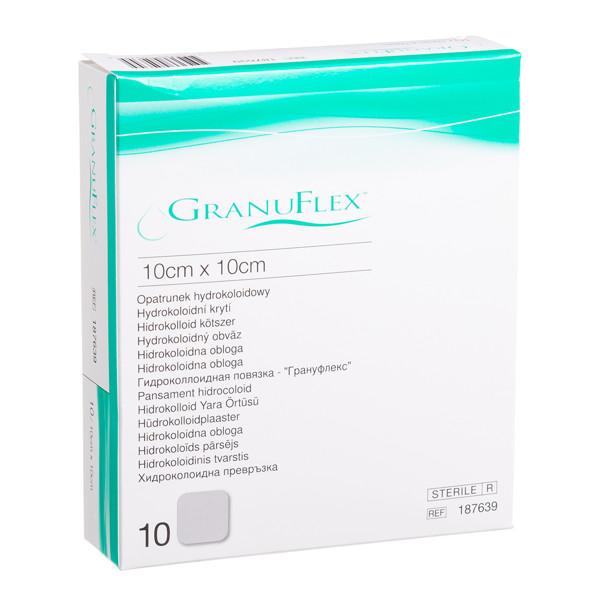 CONVATEC GRANUFLEX, hidrokoloidinis tvarstis, 10 x 10 cm, 10 vnt. paveikslėlis