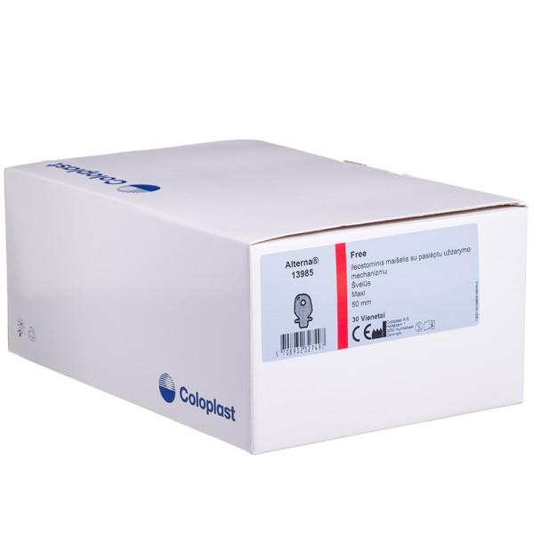 ALTERNA FREE HIDE-AWAY OUTLET MAXI, išmatų rinktuvų maišeliai atviri su filtru, 50 mm, kūno spalvos, 30 vnt. paveikslėlis