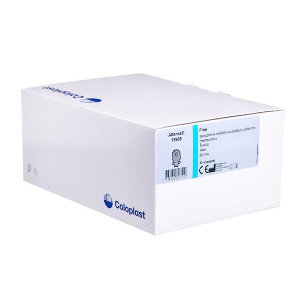 ALTERNA FREE HIDE-AWAY OUTLET MAXI, išmatų rinktuvų maišeliai atviri su filtru, 60 mm, kūno spalvos, 30 vnt. paveikslėlis