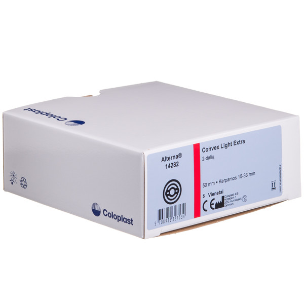 ALTERNA CONVEX LIGHT EXTRA, išmatų rinktuvų plokštelė, dvikomponentė, lanksti, kerpama, 50 mm, 5 vnt. paveikslėlis
