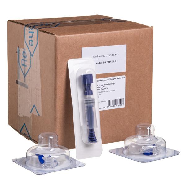 ACCU-CHEK SPIRIT, insulino pompa, rinkinys, Nr.1A paveikslėlis