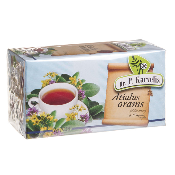 DR. P. KARVELIS ATŠALUS ORAMS, žolelių arbata, 1 g, 25 vnt. paveikslėlis