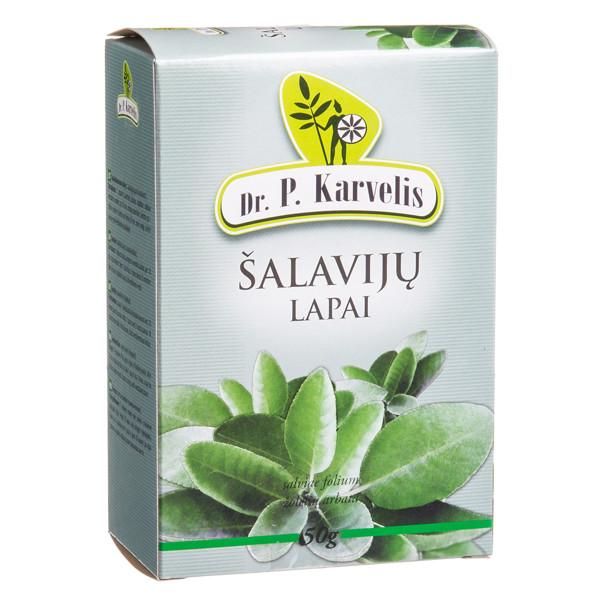 DR. P. KARVELIS ŠALAVIJŲ LAPAI, žolelių arbata, 50 g paveikslėlis