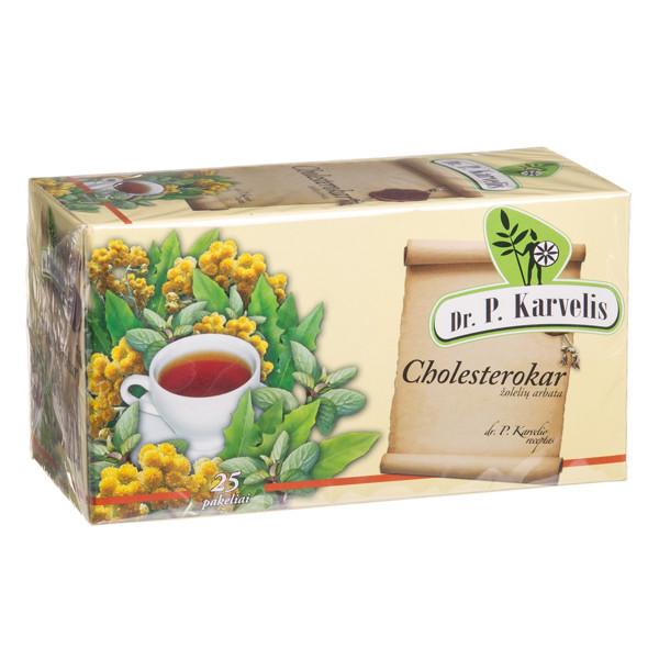 DR. P. KARVELIS CHOLESTEROKAR, žolelių arbata, 1 g, 25 vnt. paveikslėlis