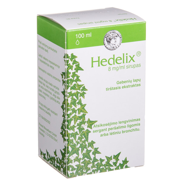 HEDELIX, 8 mg/ml, sirupas, 100 ml  paveikslėlis