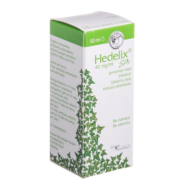 HEDELIX S.A., 40 mg/ml, geriamieji lašai (tirpalas), 50 ml  paveikslėlis