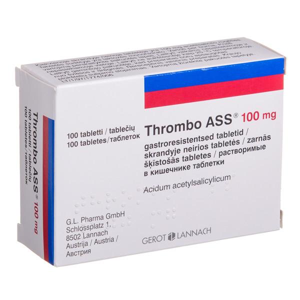THROMBO ASS, 100 mg, skrandyje neirios tabletės, N100 paveikslėlis