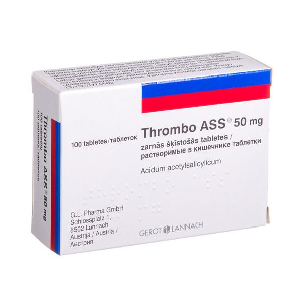 THROMBO ASS, 50 mg, skrandyje neirios tabletės, N100 paveikslėlis