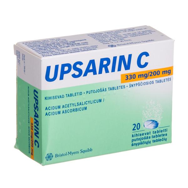 UPSARIN C, 330 mg/200 mg, šnypščiosios tabletės, N20  paveikslėlis