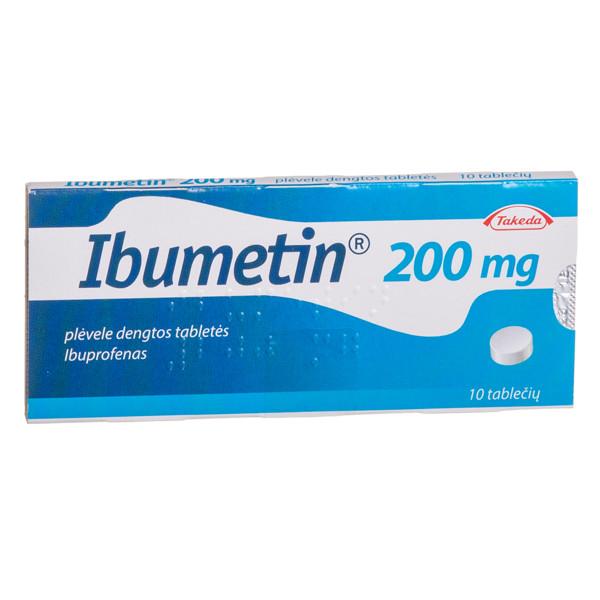 IBUMETIN, 200 mg, plėvele dengtos tabletės, N10  paveikslėlis