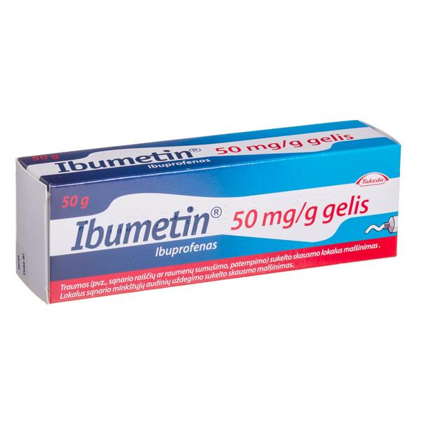 IBUMETIN, 50 mg/g, gelis, 50 g paveikslėlis