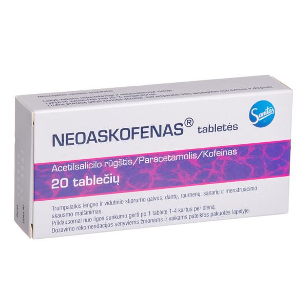 NEOASKOFENAS, tabletės, N20 paveikslėlis
