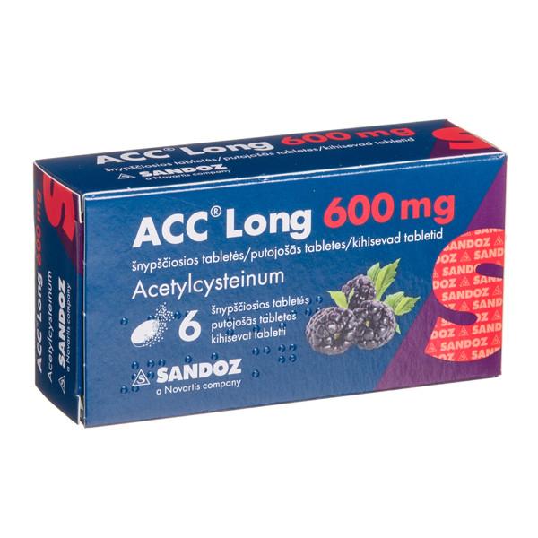 ACC LONG, 600 mg, šnypščiosios tabletės, N6 paveikslėlis