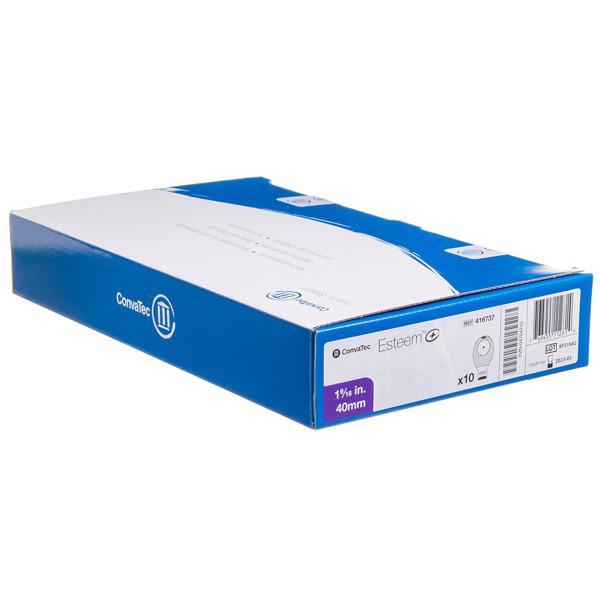 ESTEEM+, išmatų rinktuvų maišeliai, atviri, su filtru, 40 mm, vienos dalies ir pasleptu dvigubu užsegimu, 10 vnt. paveikslėlis