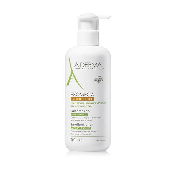 A-DERMA EXOMEGA CONTROL, losjonas-emolientas sausai, į atopinį dermatitą linkusiai odai, 400 ml paveikslėlis
