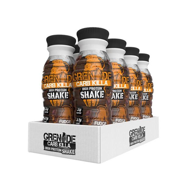 GRENADE CARB KILLA SHAKE, baltyminiai kokteiliai,  šokoladinio pyrago skonio, 8 x 330 ml paveikslėlis