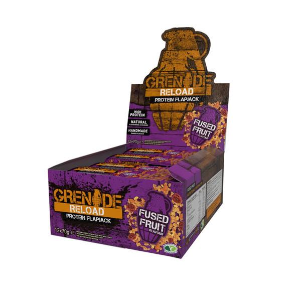GRENADE RELOAD, avižiniai baltyminiai batonėliai, vaisių skonio, 12 x 70 g paveikslėlis