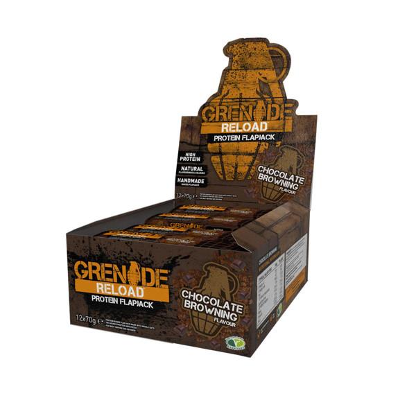 GRENADE RELOAD, avižiniai baltyminiai batonėliai, šokoladinio pyrago skonio, 12 x 70 g paveikslėlis