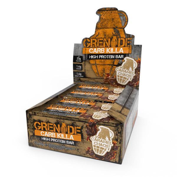GRENADE CARB KILLA BAR, baltyminiai batonėliai, karamelės skonio, 12 x 60 g paveikslėlis