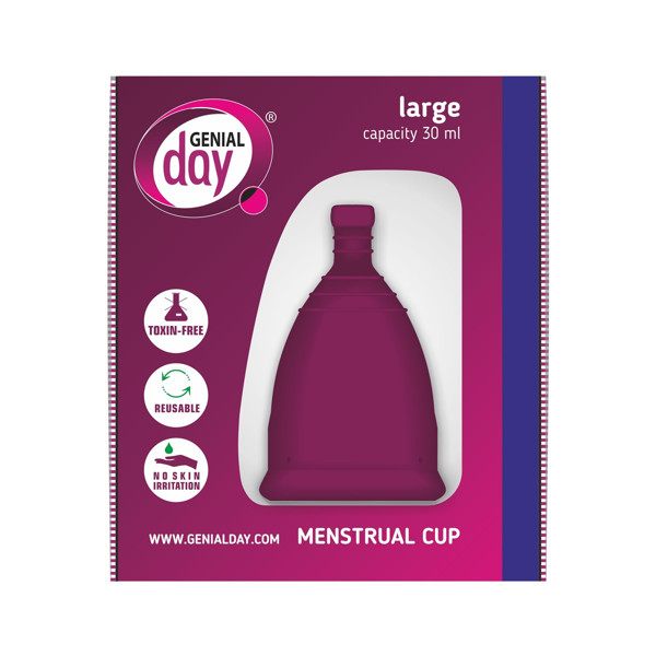 GENIAL DAY, menstruacinė taurelė, L paveikslėlis