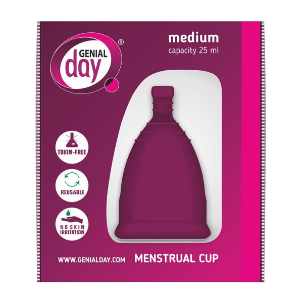 GENIAL DAY, menstruacinė taurelė, M paveikslėlis