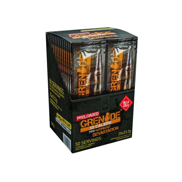 GRENADE 50 CALIBRE, prieštreniruotinis stimuliantas, coca-colos skonio, 2 x 25 porcijų, 580 g paveikslėlis