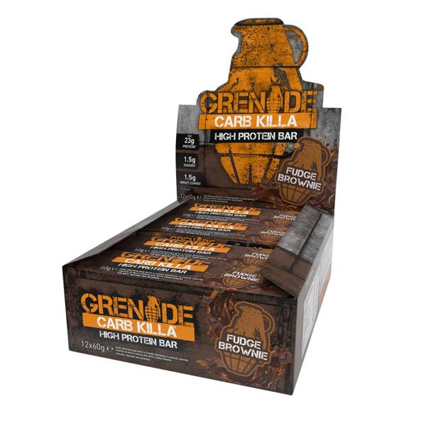 GRENADE CARB KILLA BAR, baltyminiai batonėliai, šokoladinio pyrago skonio, 12 x 60 g paveikslėlis
