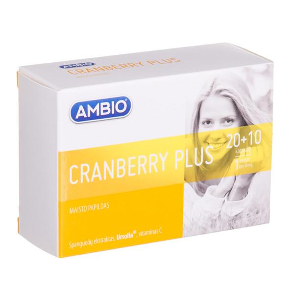 AMBIO CRANBERRY PLUS, kapsulės N20 +10  paveikslėlis