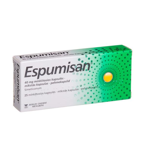 ESPUMISAN, 40 mg, minkštosios kapsulės, N25  paveikslėlis