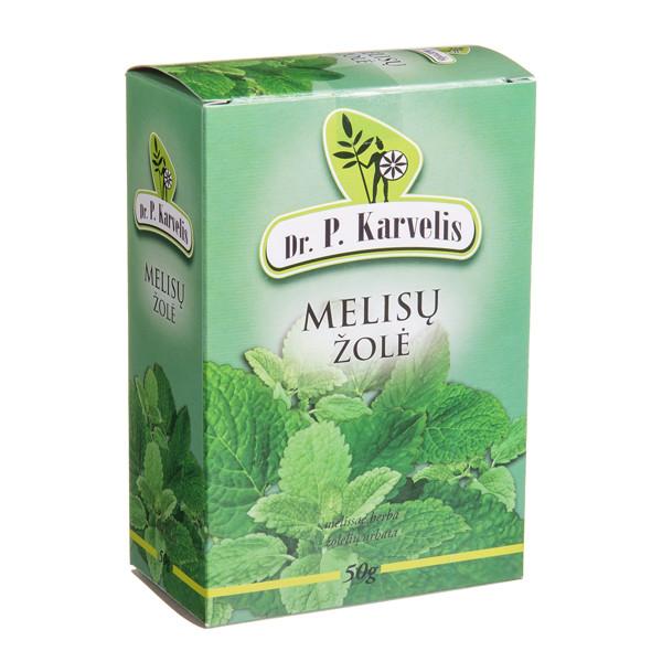DR. P. KARVELIS MELISŲ ŽOLĖ, žolelių arbata, smulkinta, 50 g paveikslėlis