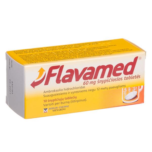 FLAVAMED, 60 mg, šnypščiosios tabletės, N10  paveikslėlis