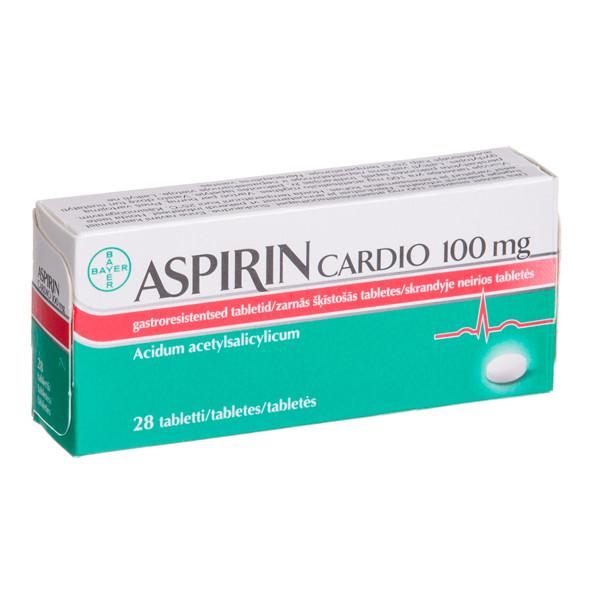 ASPIRIN CARDIO, 100 mg, skrandyje neirios tabletės, N28  paveikslėlis