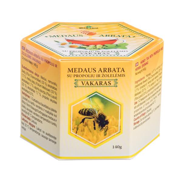 MEDICATA VAKARAS, medaus arbata su propoliu ir žolelėmis, 140 g paveikslėlis