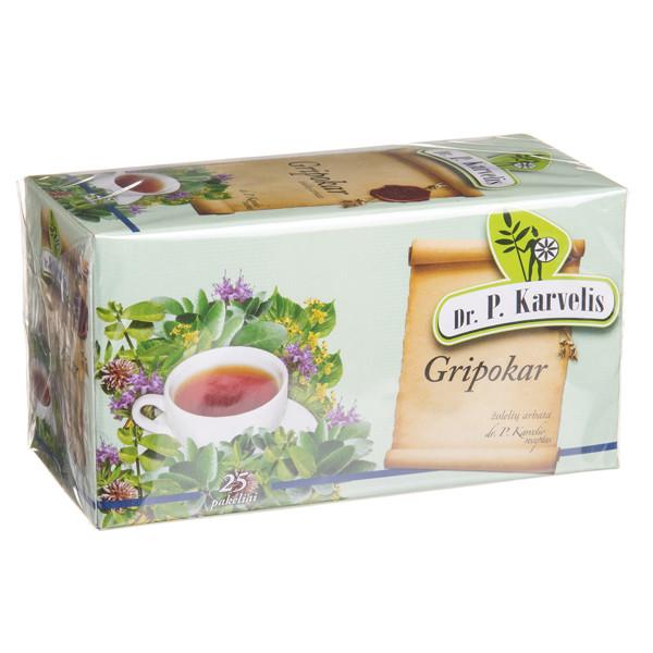 DR. P. KARVELIS GRIPOKAR, žolelių arbata, 1 g, 25 vnt. paveikslėlis
