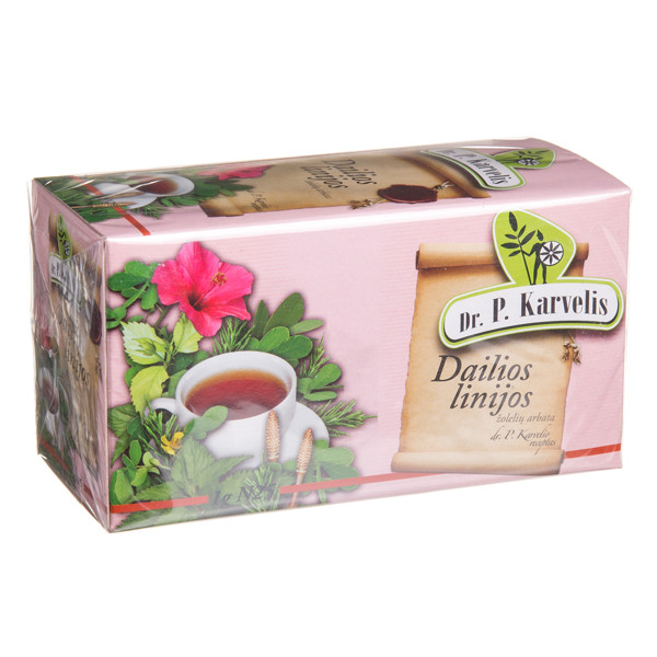 DR. P. KARVELIS DAILIOS LINIJOS, žolelių arbata, 1 g, 25 vnt. paveikslėlis