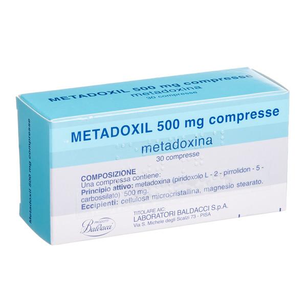 METADOXIL, 500 mg, tabletės, (l.imp.), N30 paveikslėlis