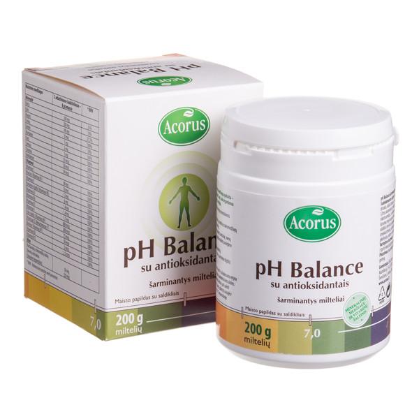 ACORUS PH BALANCE, milteliai su antioksidantais, 200 g paveikslėlis