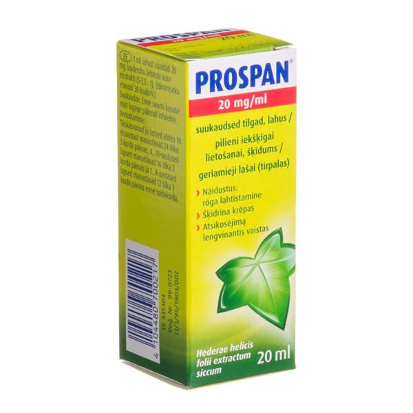 PROSPAN, 20 mg/ml, geriamieji lašai (tirpalas), 20 ml  paveikslėlis