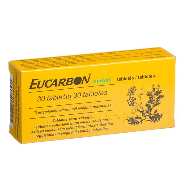 EUCARBON HERBAL, tabletės, N30 paveikslėlis