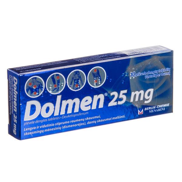 DOLMEN, 25 mg, plėvele dengtos tabletės, N10  paveikslėlis