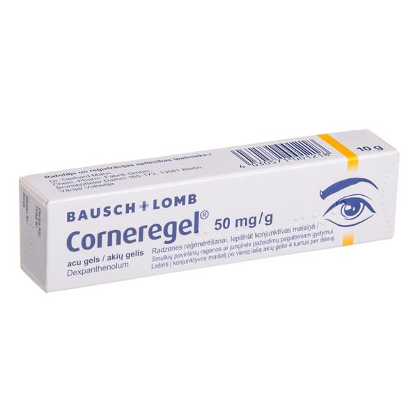 CORNEREGEL, 50 mg/g, akių gelis, 10 g  paveikslėlis