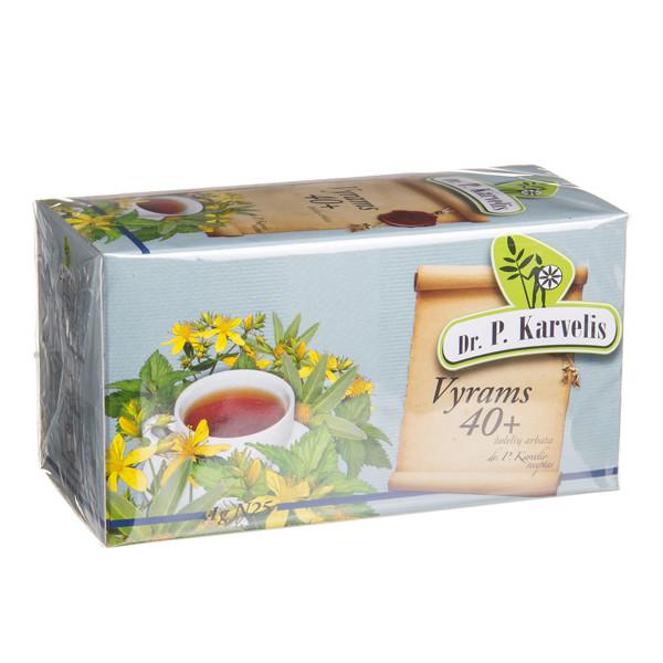 DR. P. KARVELIS VYRAMS 40+, žolelių arbata, 1 g, 25 vnt. paveikslėlis