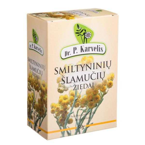 DR. P. KARVELIS SMILTYNINIŲ ŠLAMUČIŲ ŽIEDAI, žolelių arbata, 50 g paveikslėlis