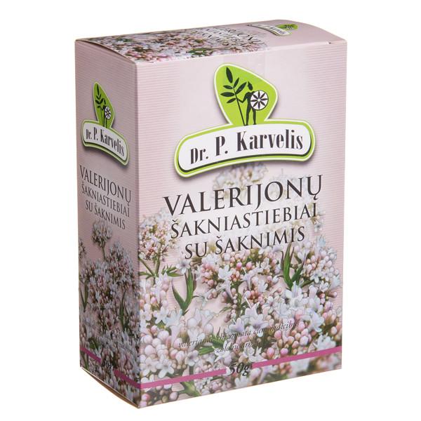 DR. P. KARVELIS VALERIJONŲ ŠAKNIASTIEBIAI SU ŠAKNIMIS, žolelių arbata, 50 g paveikslėlis